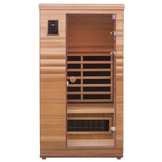 Health Mate Renew I Infrared 1 Person Canadian Western Red Cedar Sauna / HM-BSE-1-BT-CL