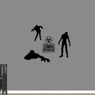 Zombie Set Wall Decal - Small