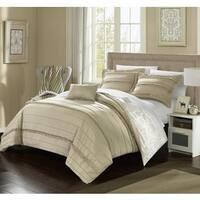 Chic Home 8-Piece Atticus Bed-In-A-Bag Beige Duvet Set