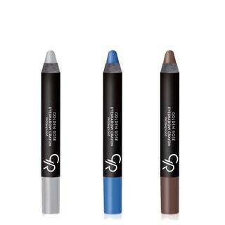 Golden Rose Creamy Eyeshadow Crayon 3-Piece Set for Various Eye Colors