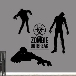 Zombie Set Wall Decal - Large