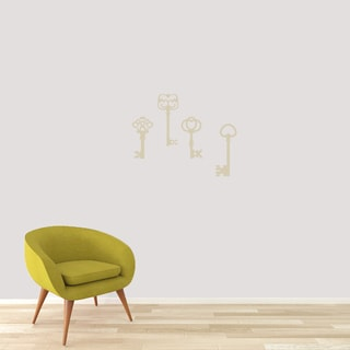 Skeleton Keys Small Wall Decals (Pack of 4)