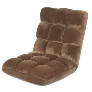 BirdRock Home Plush Brown Microfiber Memory Foam Floor and Gaming Chair