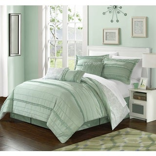 Chic Home 11-Piece Maeve Bed-In-A-Bag Green Comforter Set
