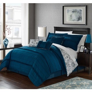 Chic Home 11-Piece Maeve Bed-In-A-Bag Blue Comforter Set