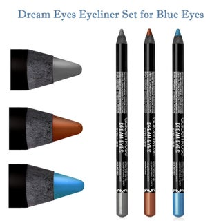 Long Wear Rich Pigment Dream Eyes 3-piece Eyeliner Set for Various Eye Colors (3 options available)