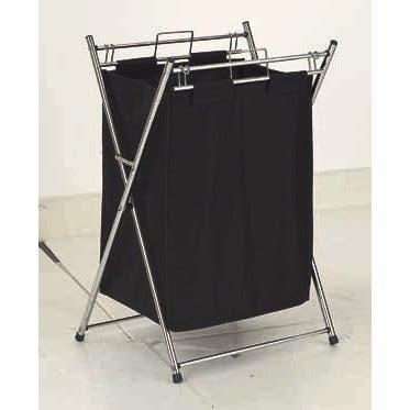 YBM Home Metal and Cotton Foldable Laundry Hamper