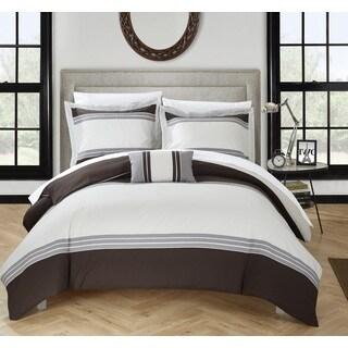 Chic Home 8-Piece Sawyer Bed-In-A-Bag Brown Duvet Set