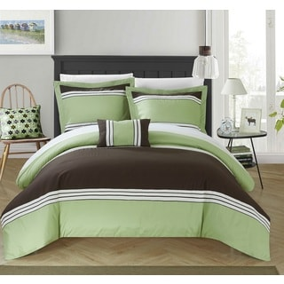 Chic Home 8-Piece Sawyer Bed-In-A-Bag Green Duvet Set