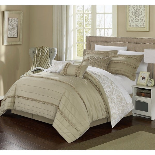 Chic Home 11-Piece Maeve Bed-In-A-Bag Beige Comforter Set