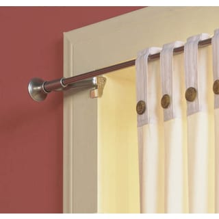 Levolor Satin Nickel Levolor Twist & Fit Tool-Less Curtain Rod