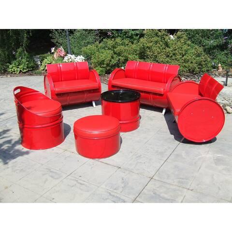 Very Red Indoor/Outdoor 6 Piece Conversation Set Plus