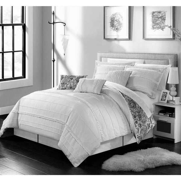 Chic Home 11-Piece Maeve Bed-In-A-Bag White Comforter Set