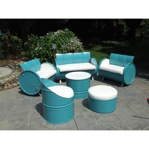 Del Ray Indoor/Outdoor Garden Patio 6-piece Conversation Set Plus