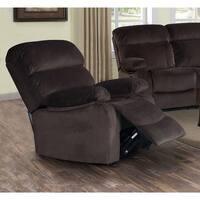 Jessica Dark Chocolate Velvet Recliner Chair