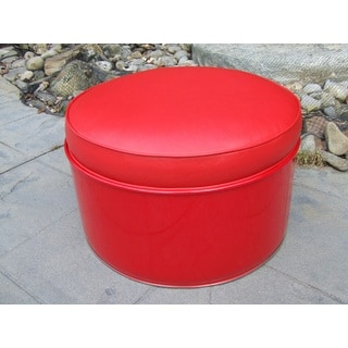 Very Red Ottoman