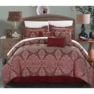 Chic Home 11-Piece Nirvana Bed-In-A-Bag Red Comforter Set