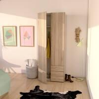 Carson Carrington Porsgrunn Wood 3-drawer/2-door Wardrobe