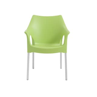 Green Aluminum/Polycarbonate Stackable Arm Chair (Set of 4)