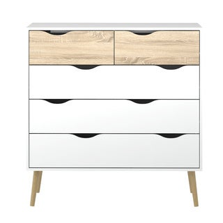 Diana 5-drawer Two-tone Oak Chest