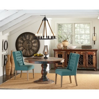 Sierra Rose Reclaimed Wood Round Dining Table