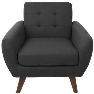 LumiSource Hemingway Fabric Mid-century Modern Accent Chair