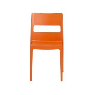 Euro Style Sai Orange Stacking Chair (Set of 6)