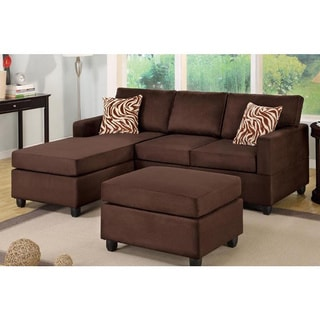 Kevin 3-Piece Loveseat Sectional Set with Ottoman