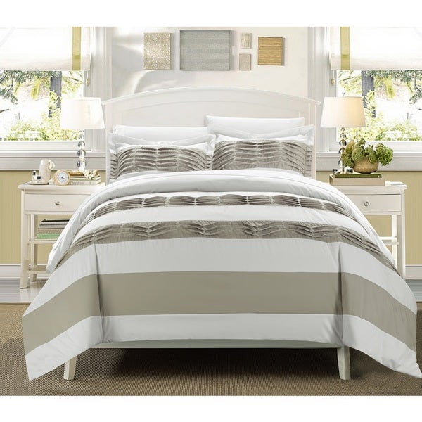 Chic Home 3-Piece Oxford White Duvet Set