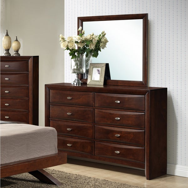 Shop Emily Contemporary Merlot Solid Wood Construction