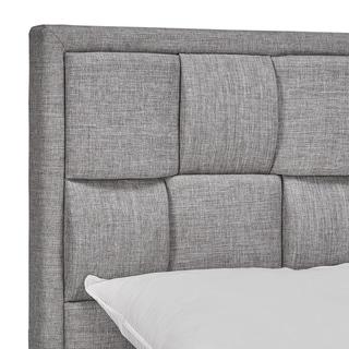 TRIBECCA HOME Porter Linen Woven Queen Upholstered Headboard
