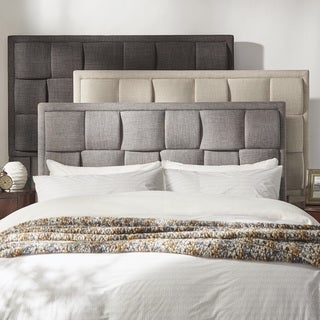 TRIBECCA HOME Porter Linen Woven King Upholstered Headboard