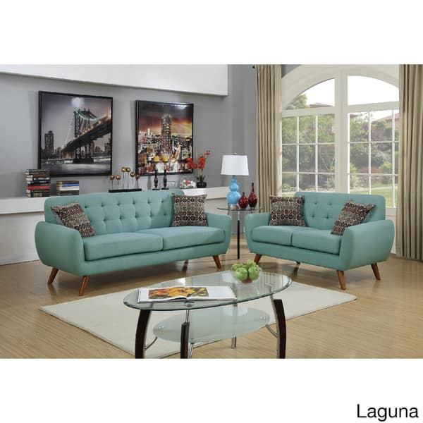 Excellent Shop Mid Century Tufted 2 Piece Living Room Sofa Set Free Camellatalisay Diy Chair Ideas Camellatalisaycom
