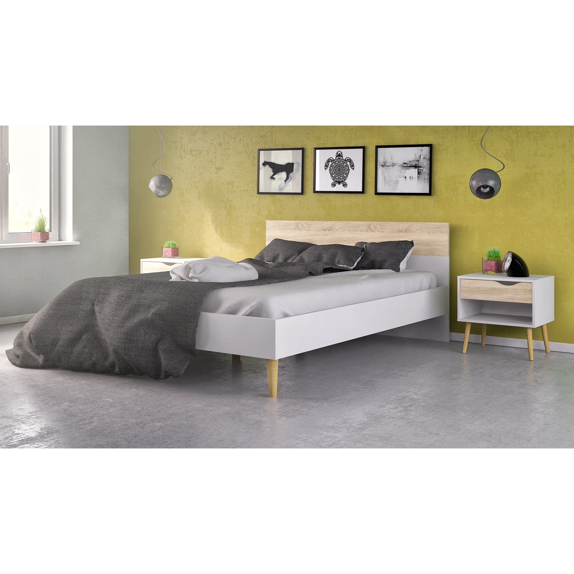 Shop Diana Two-tone Wooden Queen Bed - Free Shipping On Orders Over ...