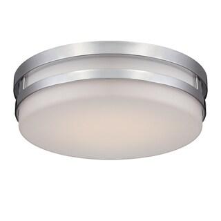 WAC Lighting Vie Chrome Aluminum/Glass LED Flush Mount
