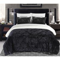 Chic Home 2-Piece Chiara Black Comforter Set