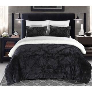 Chic Home 2-Piece Chiara Black Comforter Set