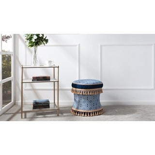 Link to Gracewood Hollow Zimunya Decorative Vanity Stool Similar Items in Cocktail Ottomans