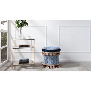 Jennifer Taylor Home Leona Polyester Decorative Accent Stool