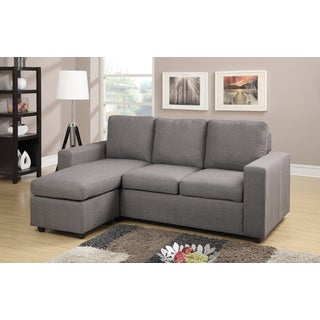 Contemporary Microfiber Fabric 3-piece Sectional Sofa