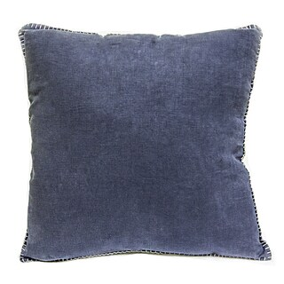 Sagebrook Home Juno Navy-blue Linen 20-inch x 20-inch Square Decorative Pillow