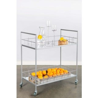 Carrie Silver Bar Cart