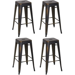 Christopher Knight Home Antique Copper Galanized Steel Vintage Bar Stool