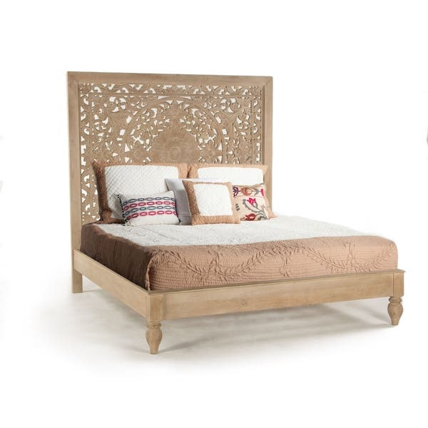 reputable site a8a69 f5b6e Shop Haveli Solid Mango Wood King Bed - On Sale - Free ...