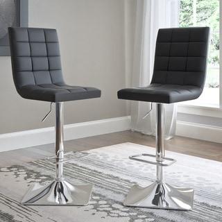 Link to Porch & Den Puget Bonded Leather Adjustable Barstools (Set of 2) Similar Items in Dining Room & Bar Furniture