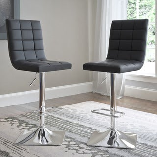 CorLiving Bonded Leather Adjustable Barstools (Set of 2)