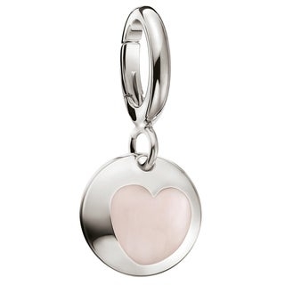 Calvin Klein Women's Wish Pink Stone Sterling Silver Fashion Charm