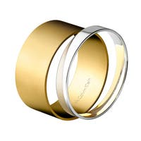 Calvin Klein Satisfaction Women's Stainless Steel and Yellow Gold PVD-coated Fashion Bangle Bracelets