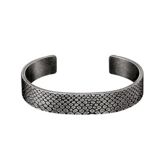 Calvin Klein Scale Stainless Steel and Black PVD Coated Women's Fashion Bracelet