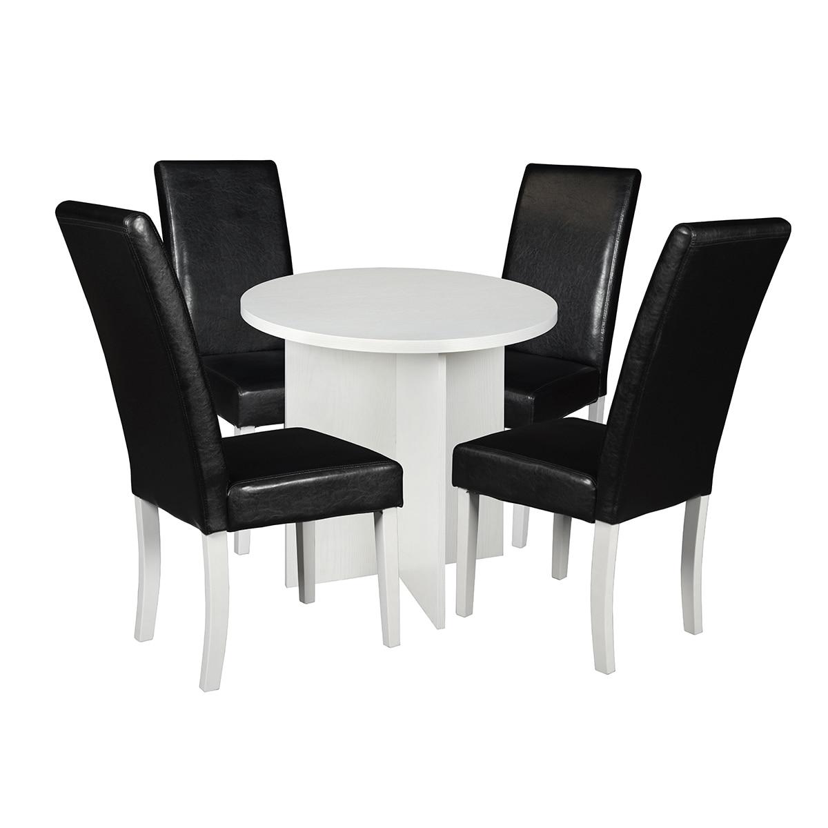 "Regency Seating Niche Mod 30"" Round Table & 4 Tyler Dinin..."